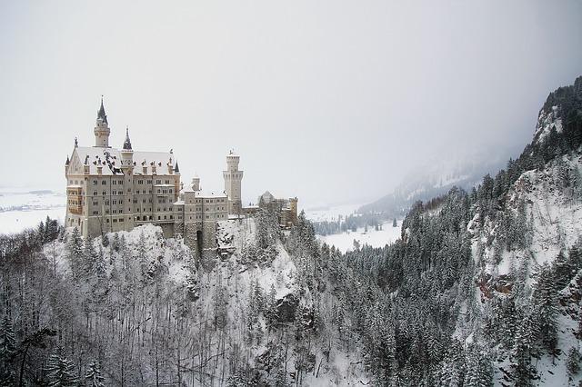 hrad v zimě
